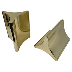Pair of Polished Brass Dining Table Bases by Mastercraft