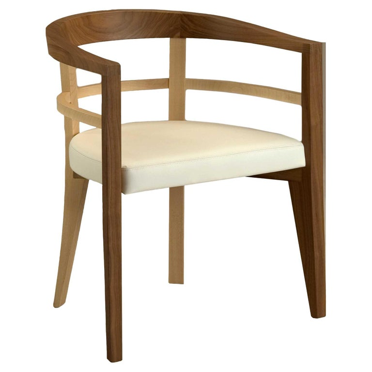 Bramante, Contemporary Armchair Made of Maple and Walnut, Design Franco Poli For Sale