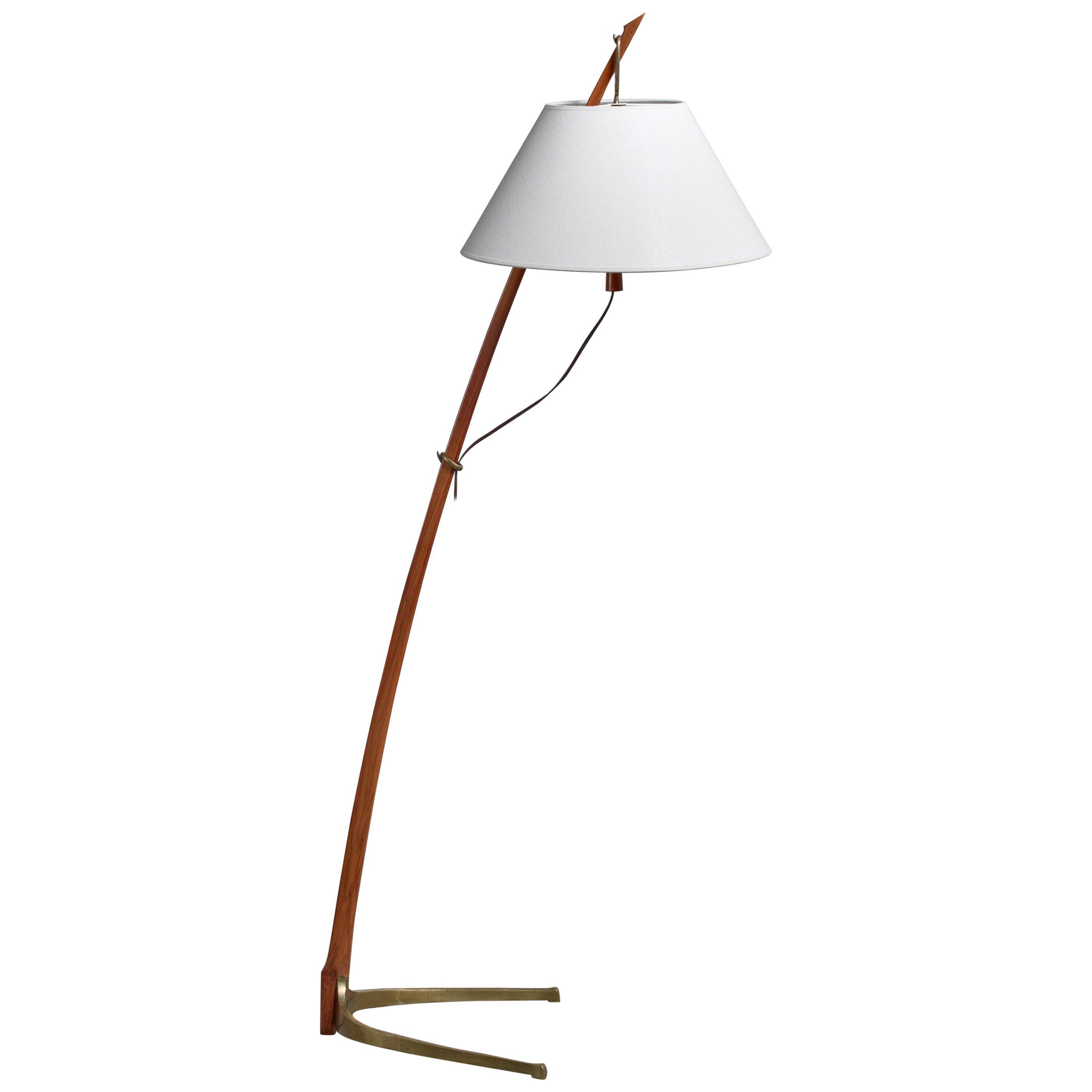 Kalmar Dornstab Floor Lamp, Austria, 1940s