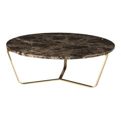 Dolomiti Emperador Marble Low Coffee Table