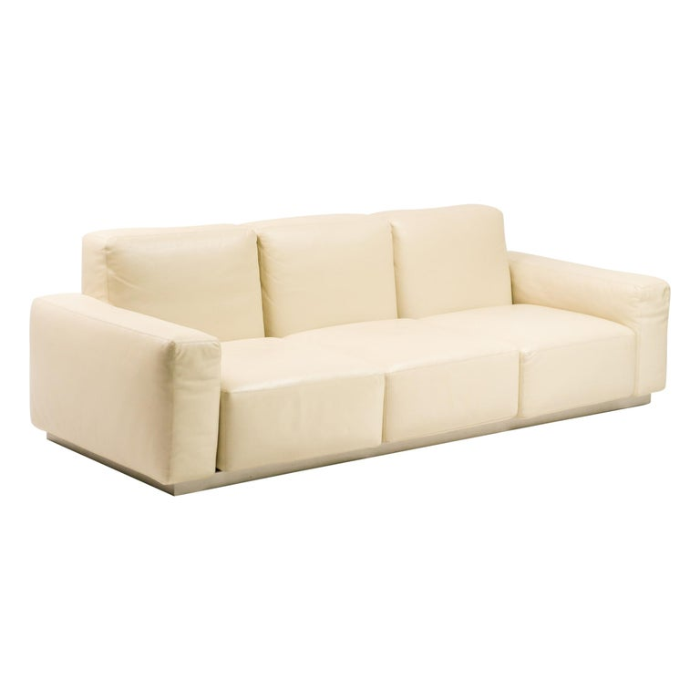 "Zanotta Leather ""Upndown"" Sofa For Sale"