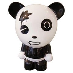 Wounded Panda Sculpture by Jiji