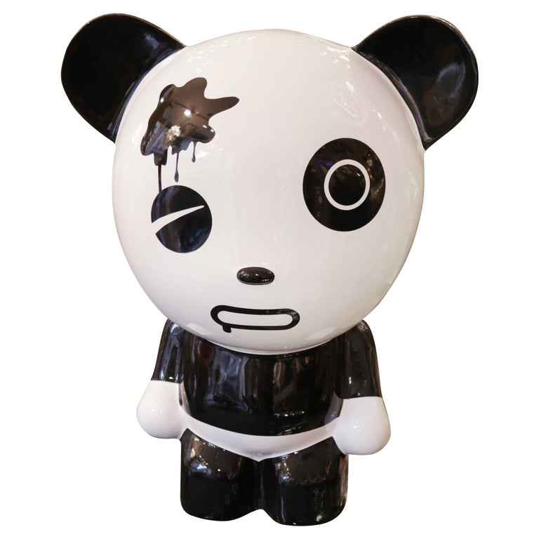 Wounded Panda Sculpture by Jiji For Sale
