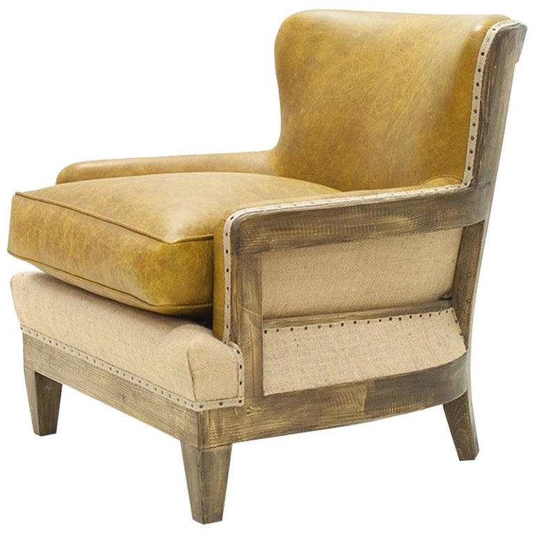 Diesel Camel Armchair with Natural Camel Genuine Leather For Sale