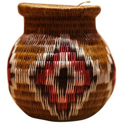 Colombian D Vase Hand-Braided