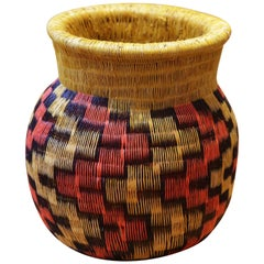 Colombian F Vase Hand-Braided