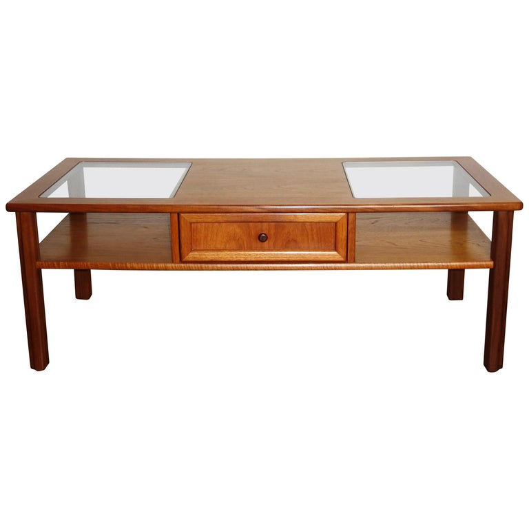 G Plan Teak And Glass Coffee Table, UK 1970s For Sale At