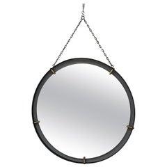 Pair of Italian Midcentury Round Mirrors