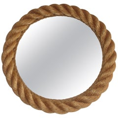 French Rope Mirror by Audoux & Minnet, 1950s