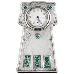 Beautiful 925 Sterling Hammered Silver Time Piece Dated Birmingham, 1903