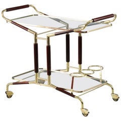 Bar Trolley with Bottleholders Designed Cesare Lacca Italy, 1959