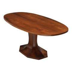 Italian Pedestal Dining Table in Rosewood