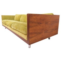 Rosewood Cased Three-Seat Sofa in Manner of Milo Baughman, circa 1970s