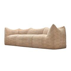 Mario Bellini Grand 'Le Bambole' Sofa in Beige Patterned Fabric