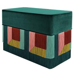Couture Geometric Green Giò Bench