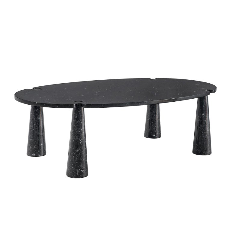 Angelo Mangiarotti Eros Marble Dining Table in Black Marble