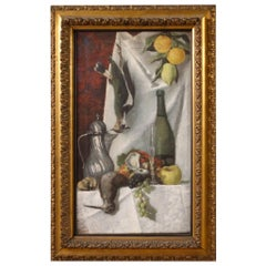 19th Century Oil on Canvas Italian Still Life Painting, 1870