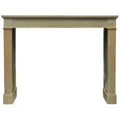 Antique French Fireplace Mantel in Limestone