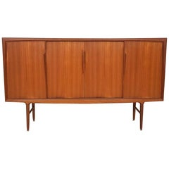 Omann Jun Teak Highboard, Cupboard or Credenza, Danish Design, 1960s