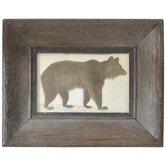 Original Antique Print of a Brown Bear, 1847