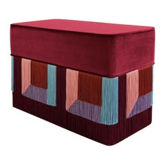 Couture Geometric Red Giò Bench