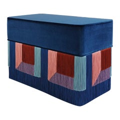 Couture Geometric Blue Giò Bench