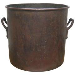 Antique Copper Pot Large Apple Butter or Confectioners Pot