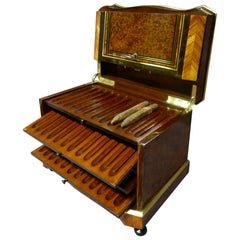 19th Century French Napoleon III Period Cigar Humidor