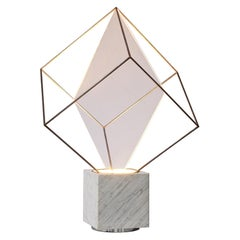 Claudio Salocchi for Lumen Form, 'Tulpa' Lamp, Marble, Acrylic, Chrome-Plated Me
