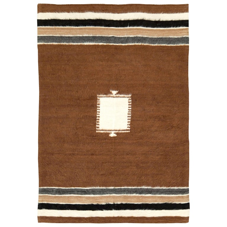 Vintage Turkish Mohair Rug For Sale