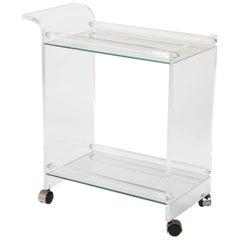 Lucite Glass Bar Cart
