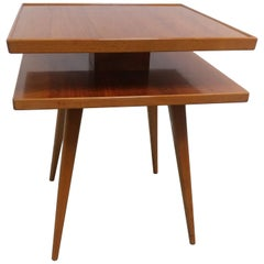 Swedish Two-Tiered Occasional Table by J.O. Carlssons, Offered by La Porte