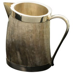 Silver and Horn Pitcher