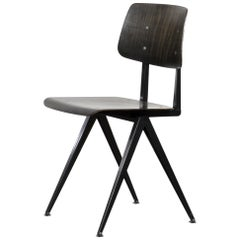 Vintage Galvanitas Plywood Chair S16 Dark Ebony, Netherlands
