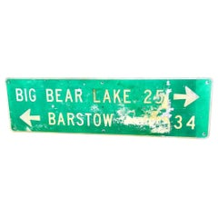 Large Big Bear Lake California Highway Sign