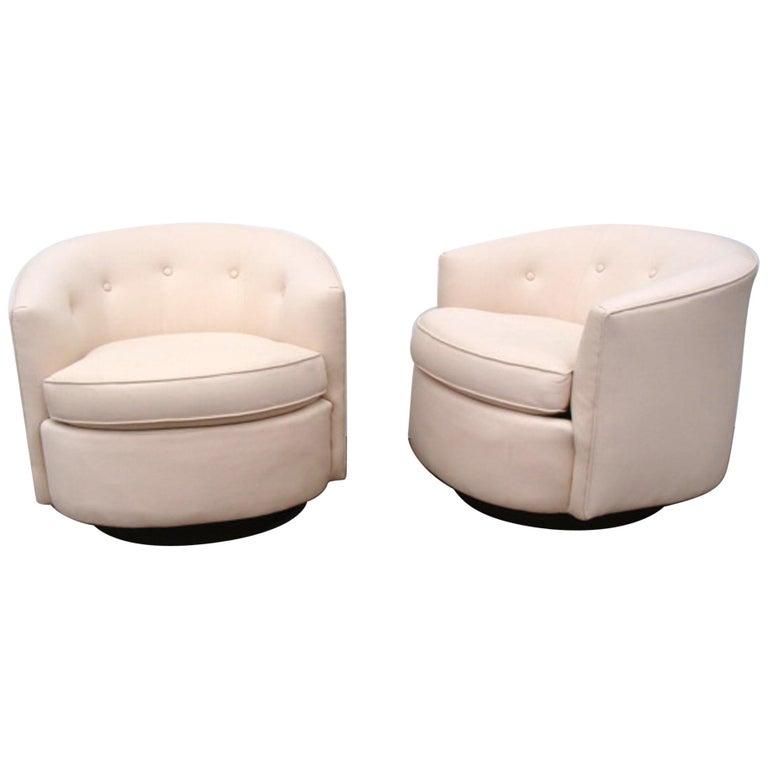 Superb Pair Of Mcm Vintage Swivel Tub Chairs Camellatalisay Diy Chair Ideas Camellatalisaycom