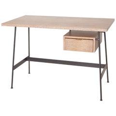 Midcentury Style Cerused Oak Desk