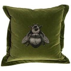Olive Napoleon Bee Cushion by Timorous Beasties