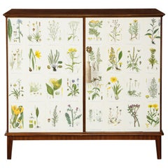 Mahogany Flora Cabinet in the Manner of Josef Frank, Sweden, 1960s