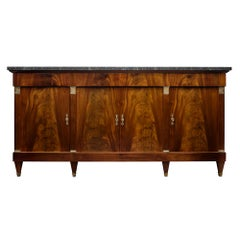 French Directoire Antique Flamed Mahogany Buffet
