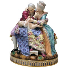Meissen the Lucky Parents Model E 81 Michel Victor Acier Rococo made c. 1773