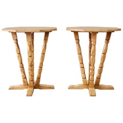 Pair of California Rancho Monterey Drink Tables