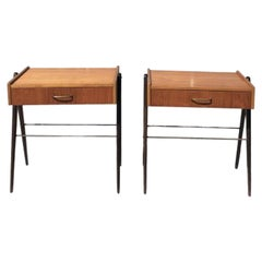 20th Century Pair of Danish Rosewood Nightstands