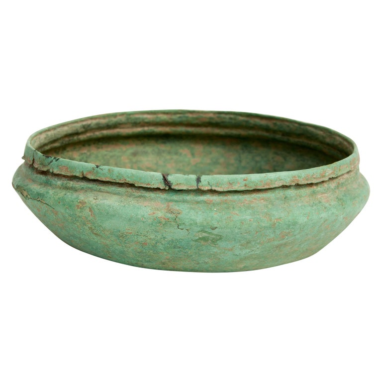 Antique Copper or Bronze Offering Bowl Eastern Thailand, 19th Century or Earlier For Sale