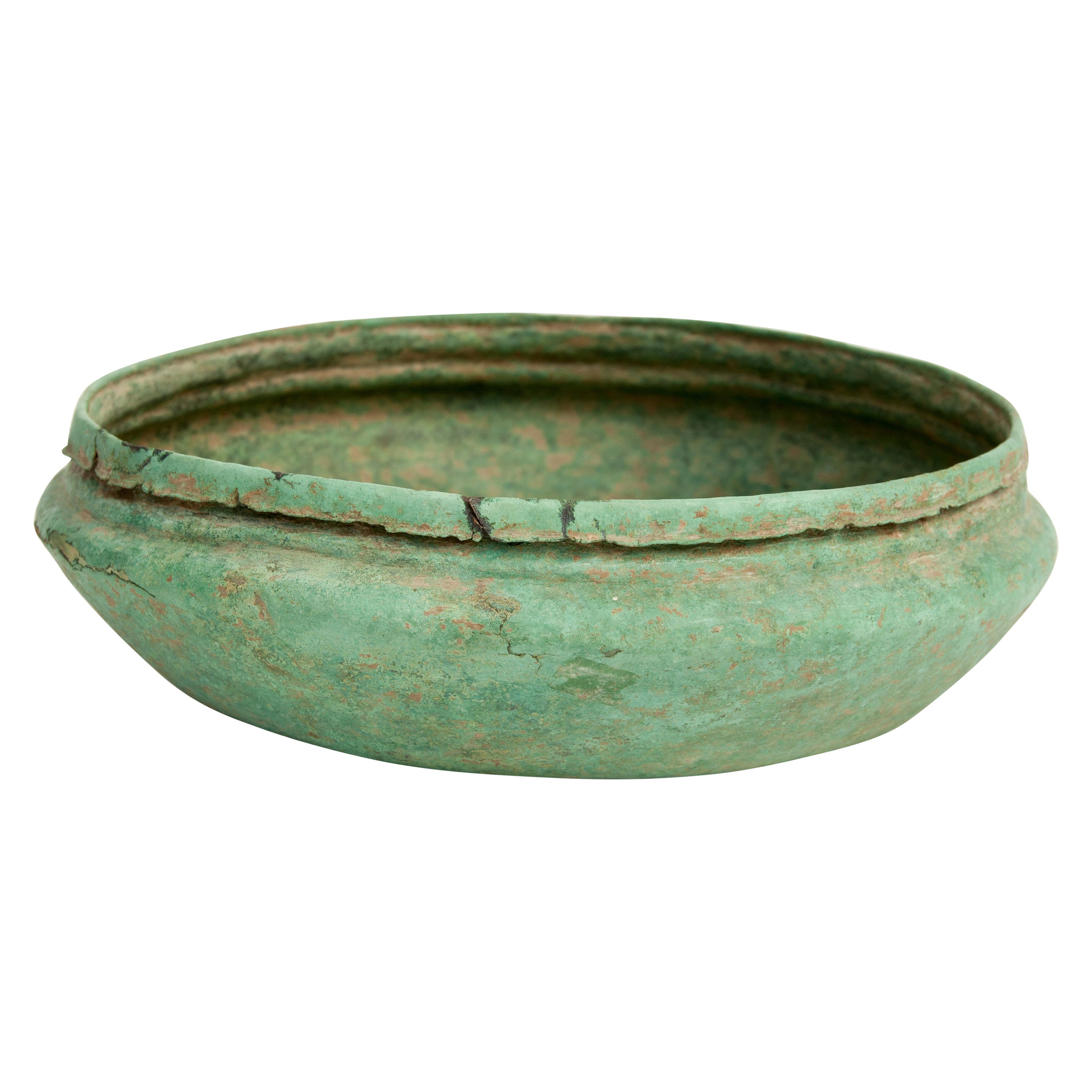 Antique Copper or Bronze Offering Bowl Eastern Thailand, 19th Century or Earlier