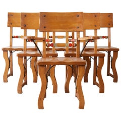 Set of Six California Rancho Monterey Dining Chairs