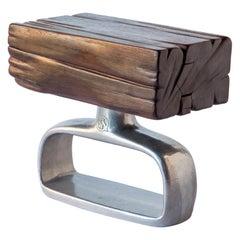 Sx. Chunk Table, Hand Carved Ironwood Cast Aluminum, Jordan Mozer, Chicago, 2018