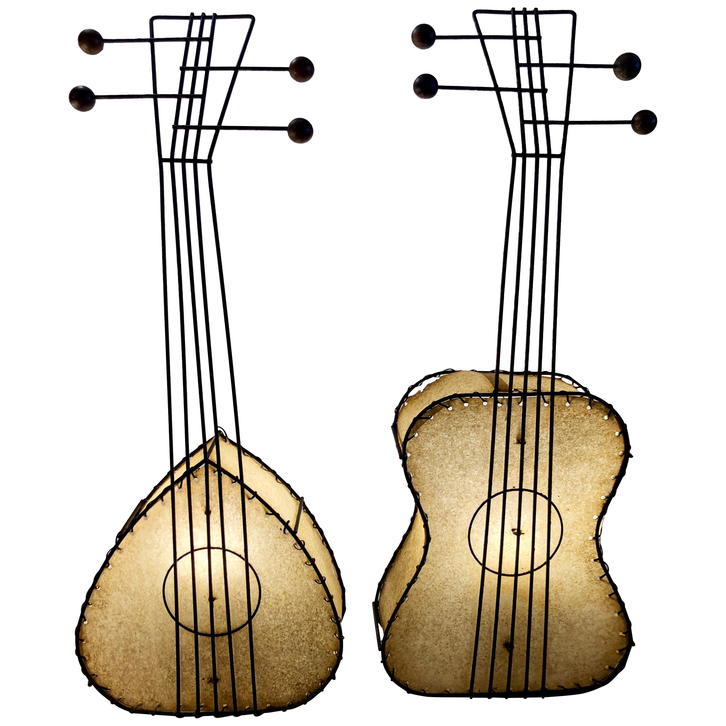 Pair of Musical Instrument Lamps by Frederick Weinberg