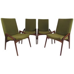 Set of Four Mid-Century Modern Dining Chairs by John Stuart