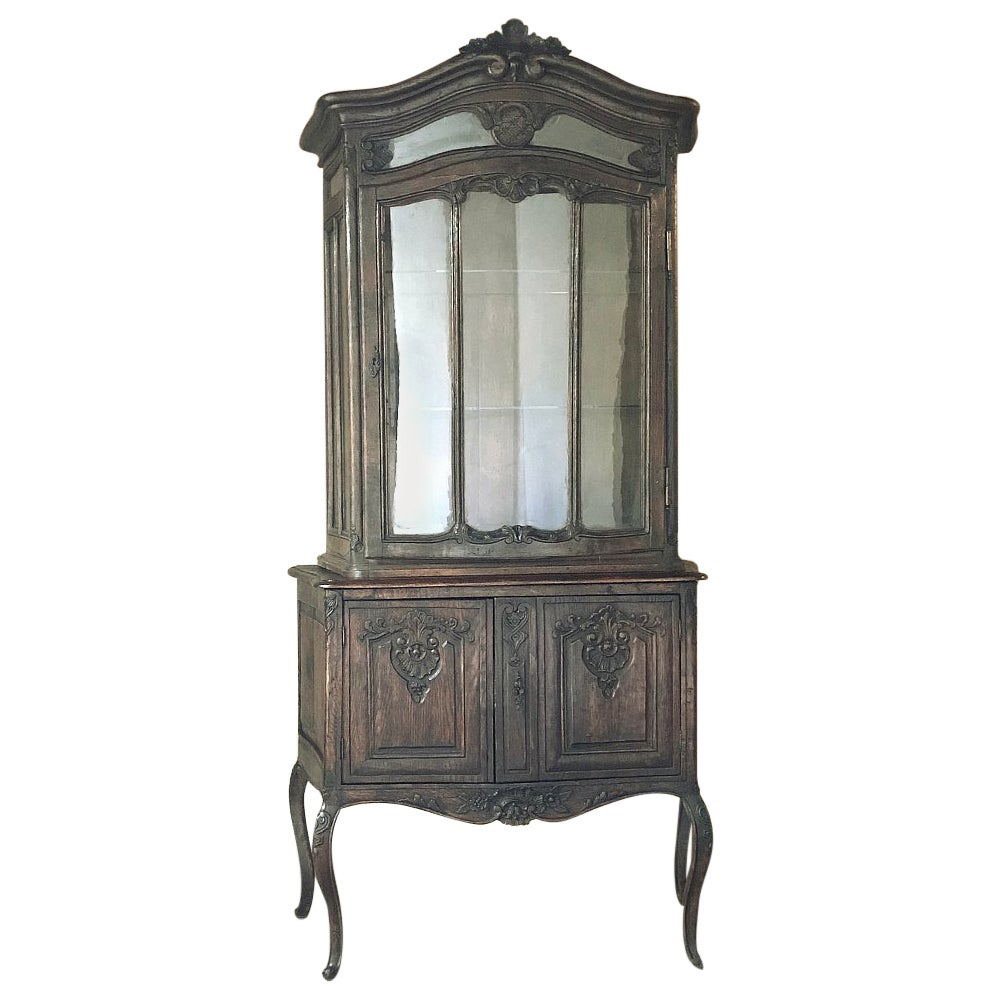 19th Century Country French Vitrine, Bookcase
